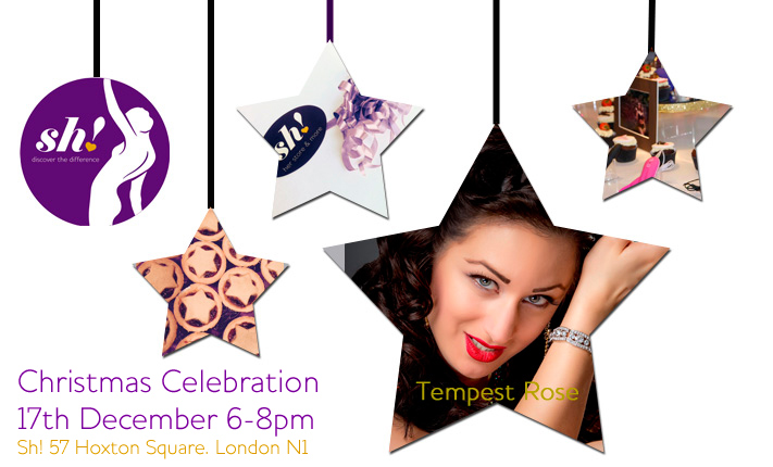 Join us for Christmas Celebrations 17th Dec 6-8pm at Sh!