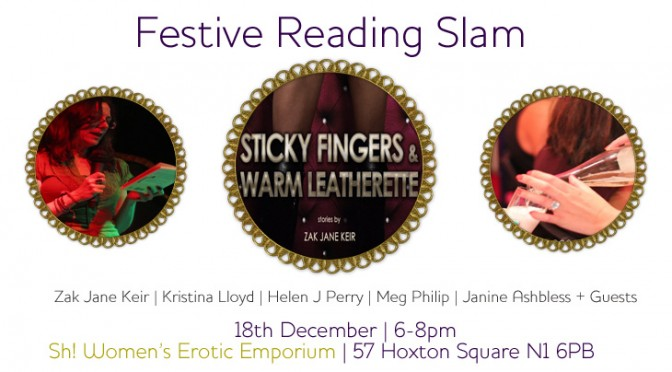 Festive Reading Slam at Sh! | Fri 18th Dec | 6-8pm | FREE!