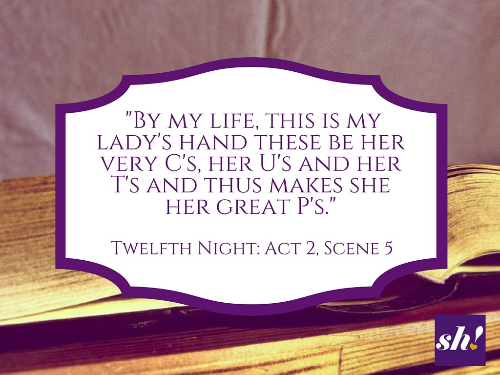 It's Shakespeare Week: Let's get highbrow and laugh at his sex jokes.