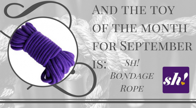 Toy of the Month for September: Sh! Bondage Rope