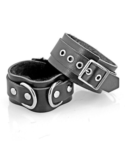 Black Leather Ankle Cuffs