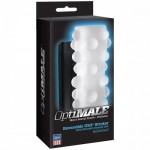 OptiMALE Rollerball 2 Way Stroker - A Pliable and reversible male masturbator, with 2 different sensations (£30)